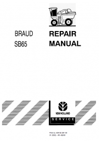 New Holland Braud Harvester SB65 PDF Repair Manual