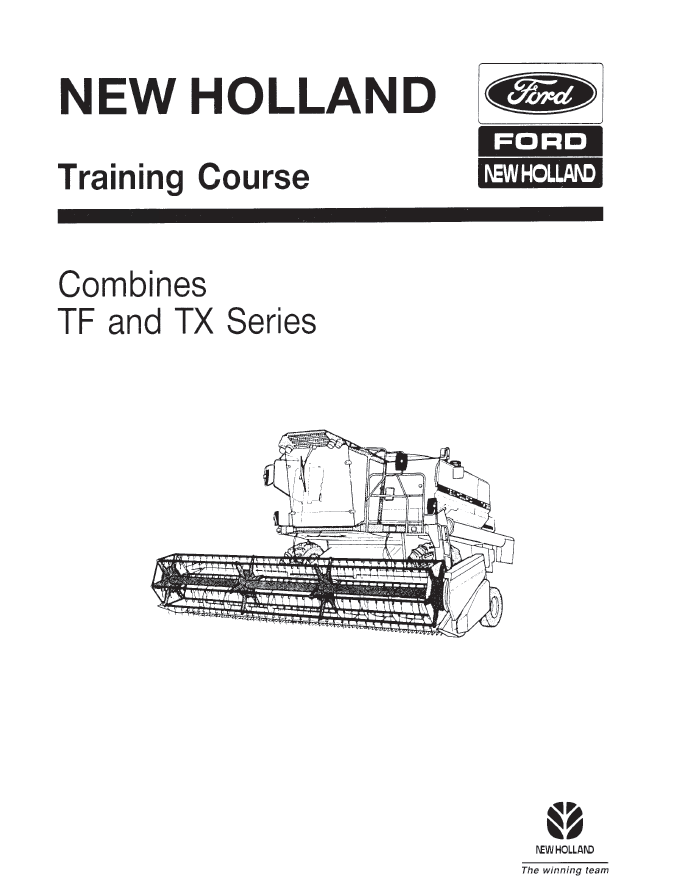 New Holland Combines TF and TX series PDF Training Course