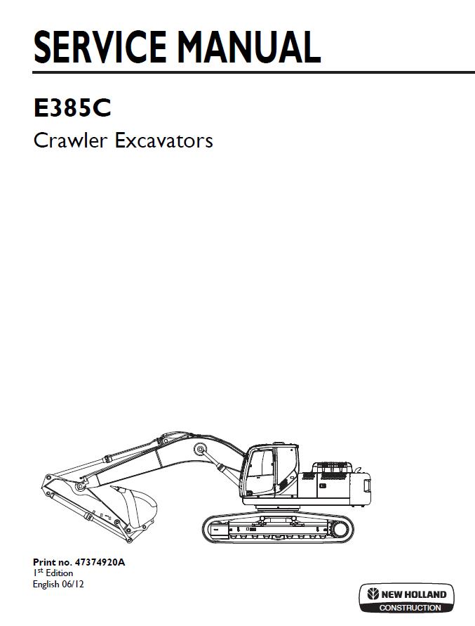 New Holland E385C (Tier IV) Crawler Excavator Set of