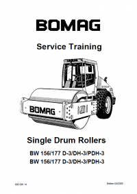 Bomag BW156/177 D/DH/PDH-3 Single Drum Rollers Service