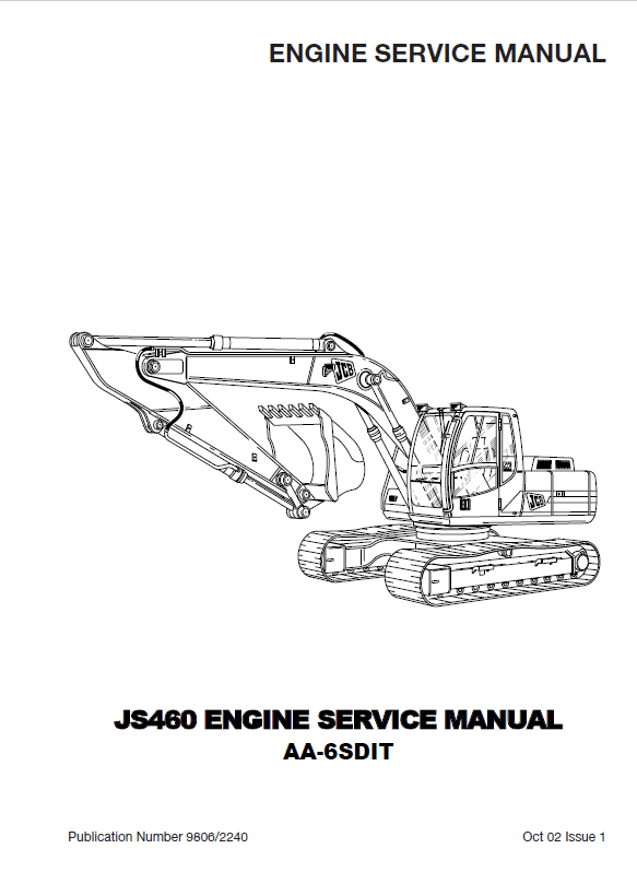 Download Isuzu Diesel Engine AA-6SDIT for JCB JS460 Manual PDF