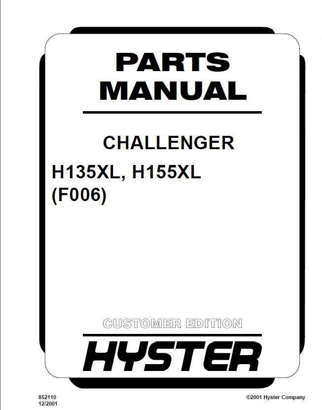 hyster h155xl manual