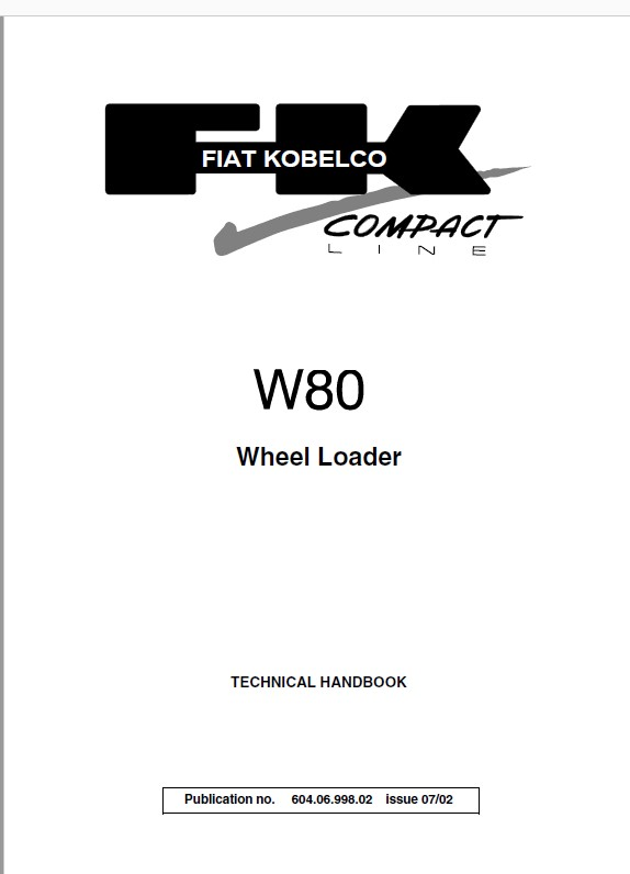 Download Fiat Kobelco W80 Wheel Loader Technical Handbook