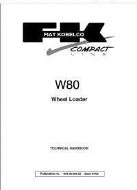 Download Fiat Kobelco W80 Wheel Loader Technical Handbook