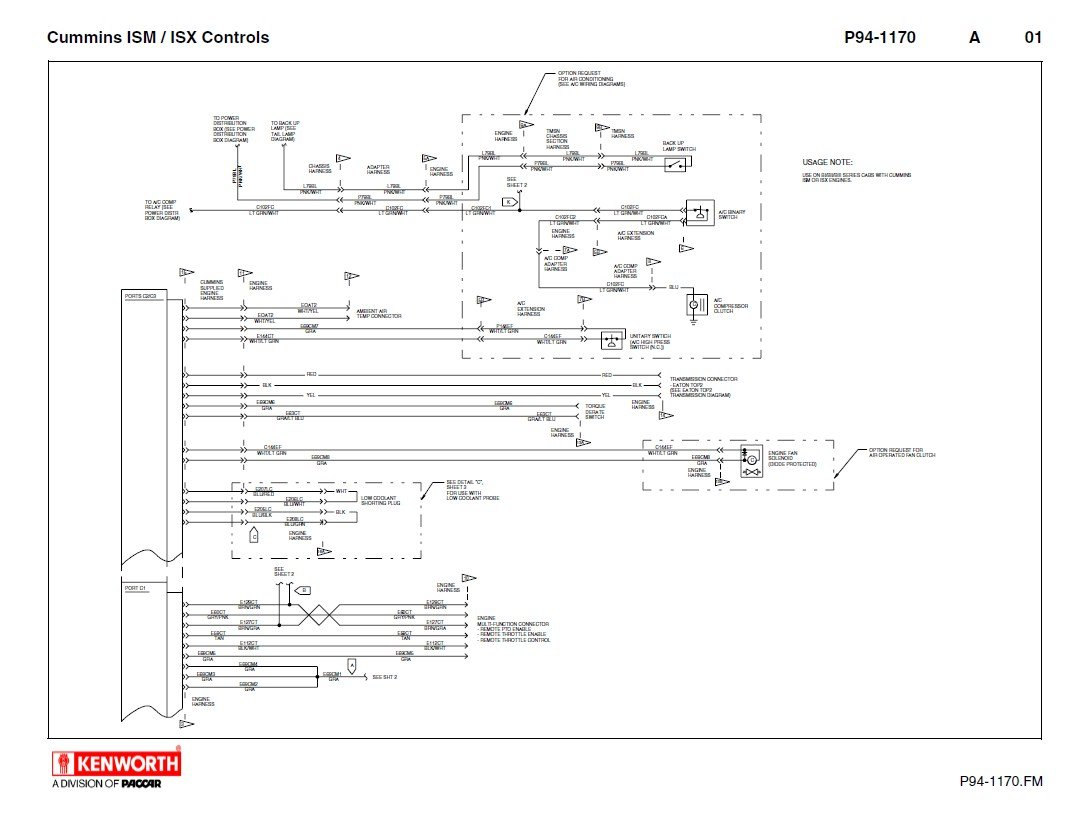 hight resolution of repair manual kenworth t660 cummins ism isx electrical schematics manual pdf
