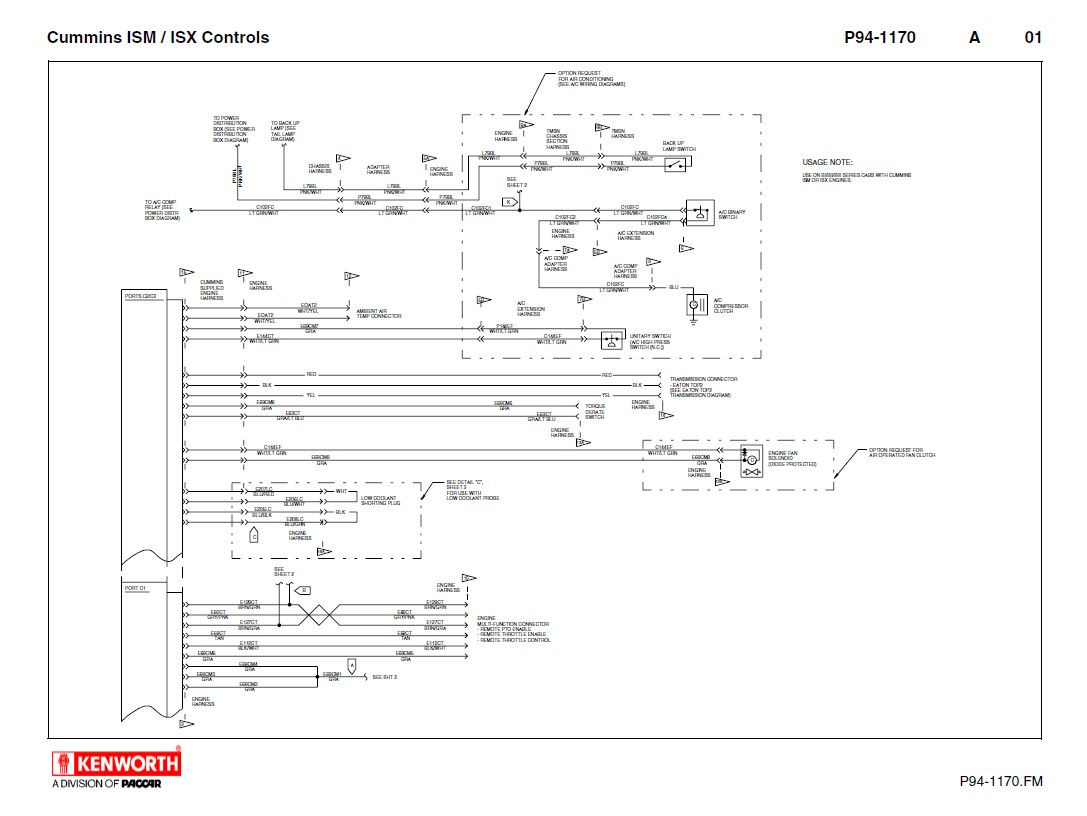 hight resolution of kenworth t660 wiring diagram