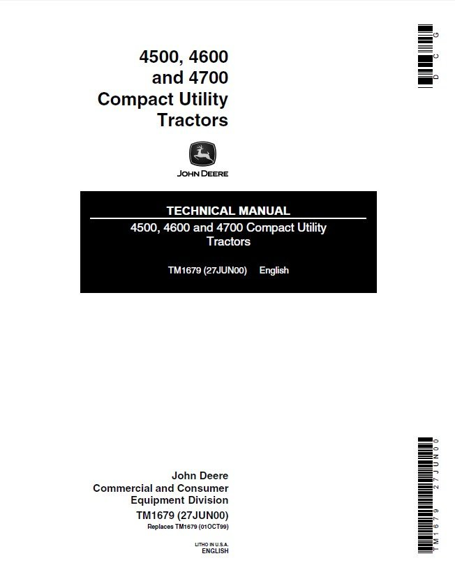 Wiring Diagram Of A John Deere Tractor 4600 : 43 Wiring