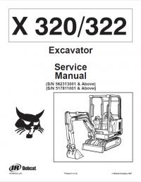 Bobcat X 320 & X 322 Excavator Service Manual PDF