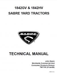 John Deere 1842GV 1842HV Sabre Yard Tractors TM1740 PDF