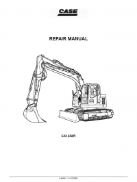 Case CX135SR Crawler Excavator Repair Manual PDF