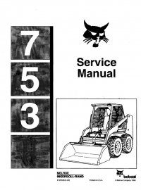 Bobcat 753 Skid Steer Loader PDF Service Manual Download