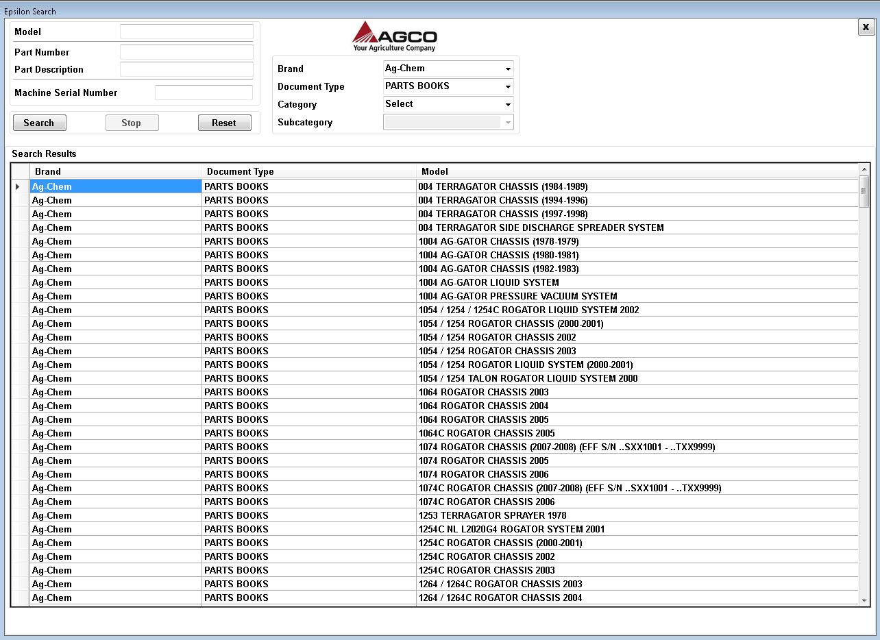 Ag Chem Epsilon 12/2019 North America Service and Parts