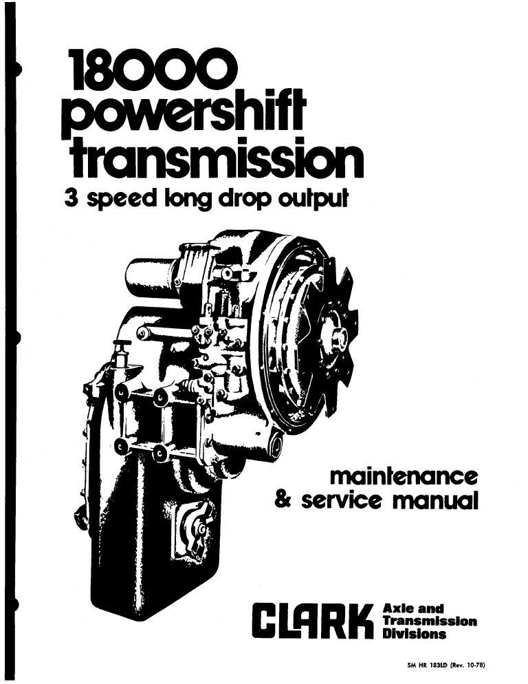 John Deere Clark Powershift 18000 3-Speed Transmission PDF