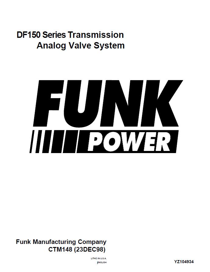 John Deere Funk DF-150 Transmission Service Manual CTM148