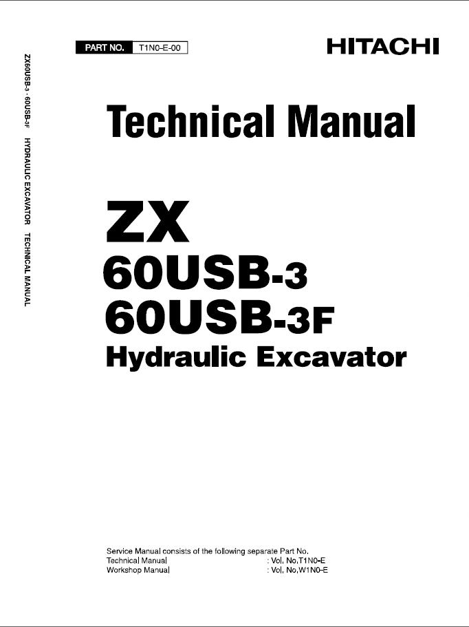 Hitachi ZX 60USB-3 ZX 60USB-3F Hydraulic Excavator PDF