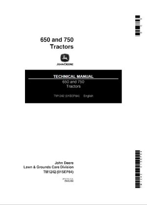 John Deere 650 & 750 Tractors Technical Manual PDF