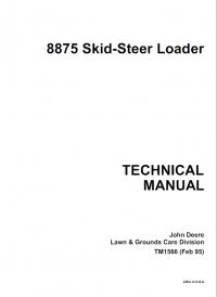 John Deere 8875 Skid Steer Loader Technical Manual PDF