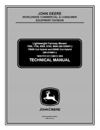 John Deere Lightweight Fairway Mower TM107919 Technical