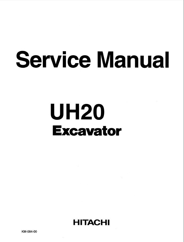 Hitachi UH20 Excavator Service Manual PDF