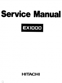 Hitachi EX1000 Excavator Service Manual PDF
