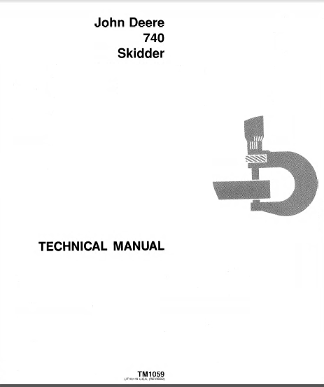 John Deere 740 Skidder TM1059 Technical Manual PDF