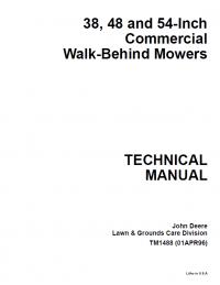 John Deere 38 48 54-Inch Commercial Walk-Behind Mowers