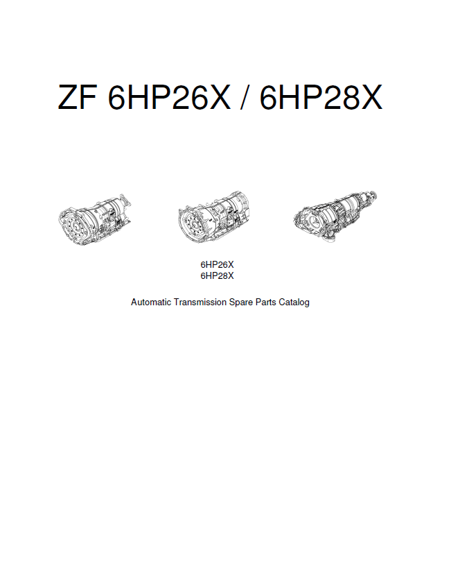 ZF 6HP26X/6HP28X Transmission Parts Catalog PDF Download