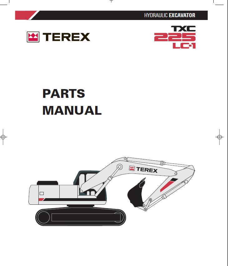Terex TXС 225LC-1 Hydraulic Excavator Parts Manual PDF