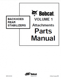 Bobcat Backhoes Rear Stabilizers Volume 1 Attachments PDF