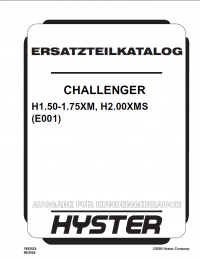 Hyster Challenger H1.50-1.75XM H2.00XMS Forklift Parts