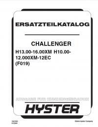 Hyster Challenger H13.00-16.00XM H10.00-12.000XM-12EC PDF GR