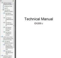 Hitachi EX200-2 Excavator Technical Workshop Manual PDF