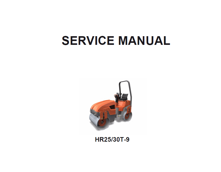 Download Hyundai HR25T-9 HR30T-9 Rollers Service Manual