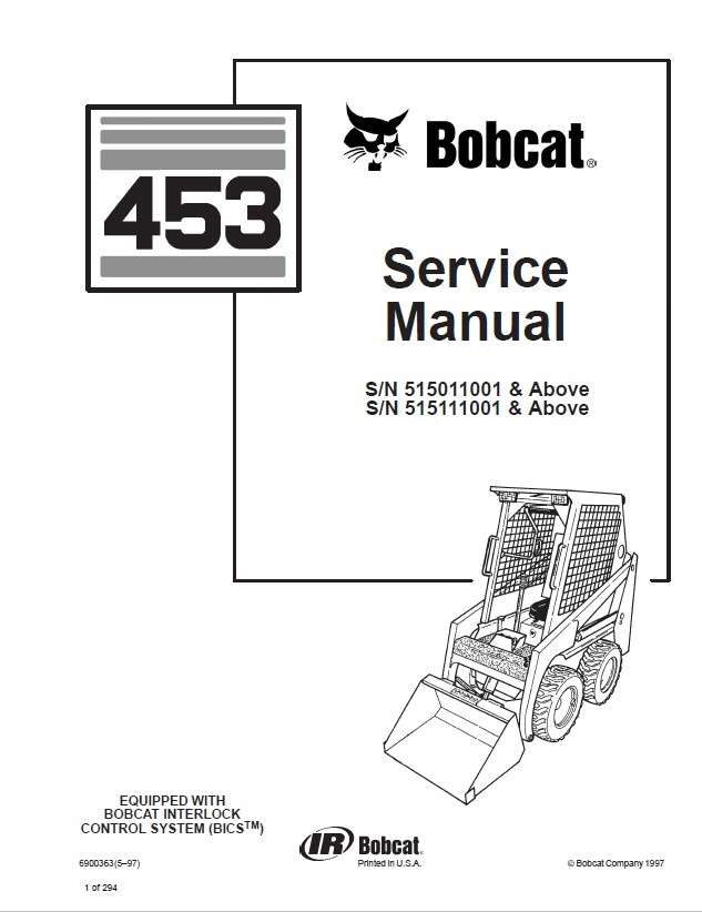 Bobcat 453 Skid Steer Loader Service Manual PDF