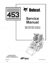 Bobcat 453 Skid Steer Loader Service Manual PDF