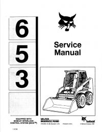 Bobcat 653 Skid Steer Loader Service Manual PDF
