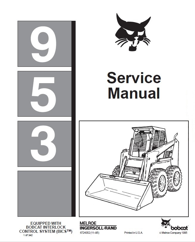 Bobcat 953 Loader Service Manual PDF
