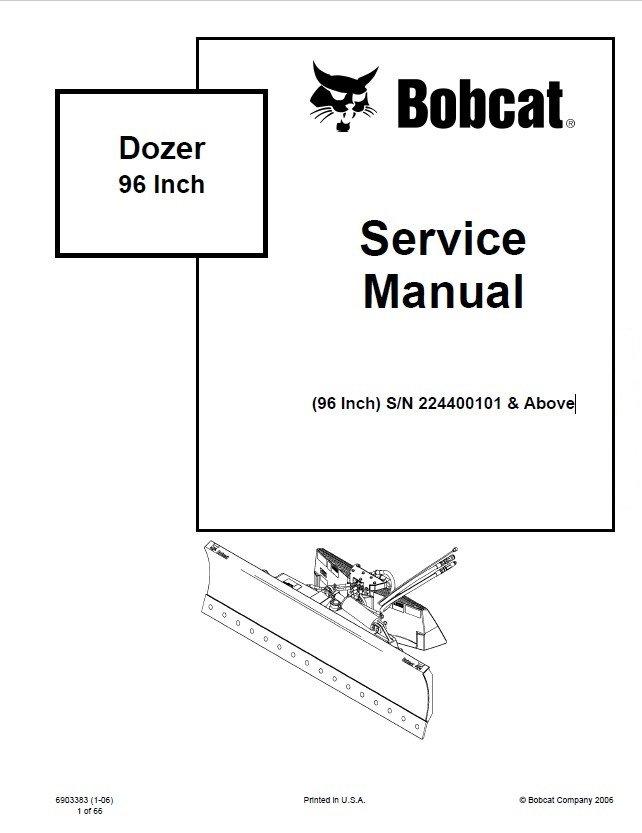 Bobcat 96 Inch Dozer Service Manual PDF