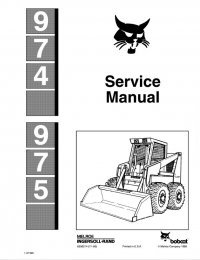 Bobcat 974, 975 Skid Steer Loader Service Manual PDF