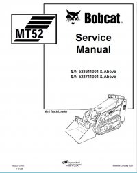 Bobcat MT52 Mini Track Loader Service Manual PDF