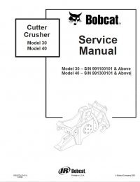Bobcat Cutter Crusher 30, 40 Models Service Manual PDF
