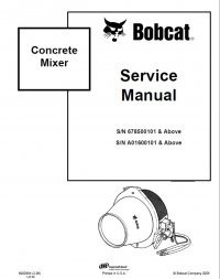 Bobcat Concrete Mixer Service Manual PDF