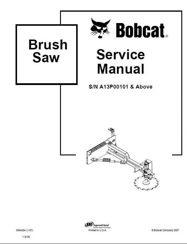 Bobcat Brush Saw Service Manual PDF