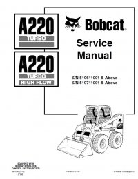 Bobcat A220 Turbo HF Loaders Service Manual PDF
