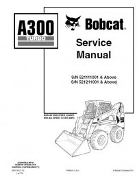 Bobcat A300 Turbo Skid Steer Loader Service Manual PDF