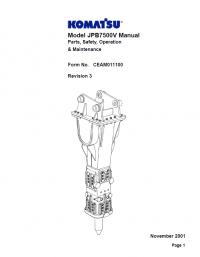 Komatsu JPB7500V Set of PDF Repair Manuals Download