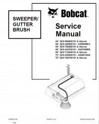 Bobcat 44 54 60 72 Sweeper Gutter Brush Service Manual PDF