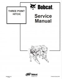 Bobcat Three Point Hitch Service Manual PDF