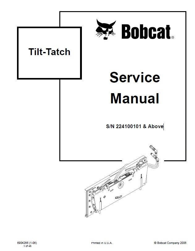 Bobcat Tilt-Tatch Service Manual PDF