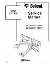 Bobcat Sod Layer Service Manual PDF